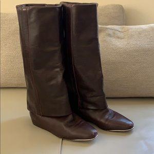 See by Chloe Burgundy Hidden Heel Boot size 35.5